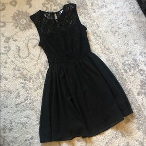 Black H&M dress with lace top